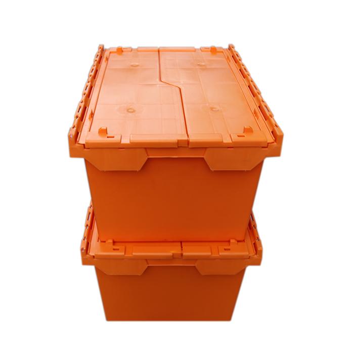 black plastic boxes with lids