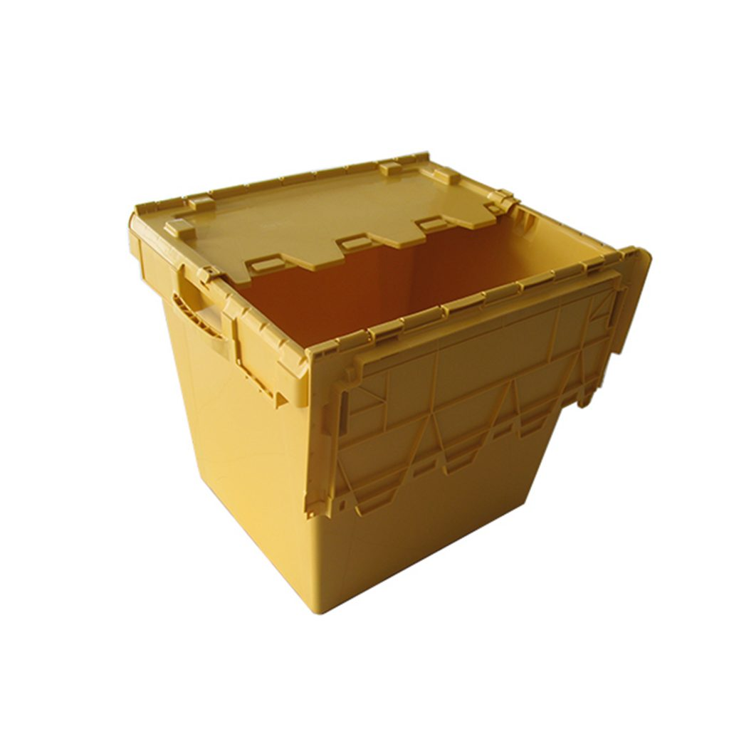 large plastic storage boxes with hinged lid