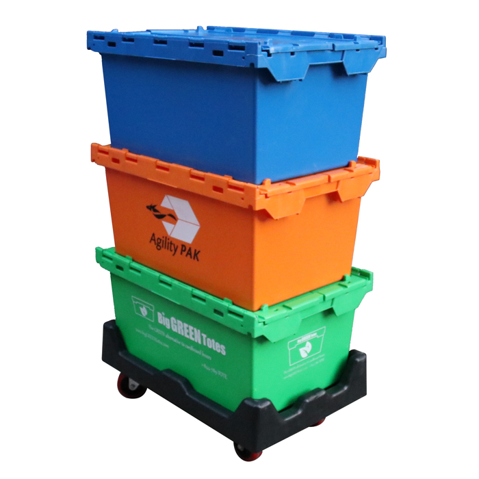 lids attached to containers