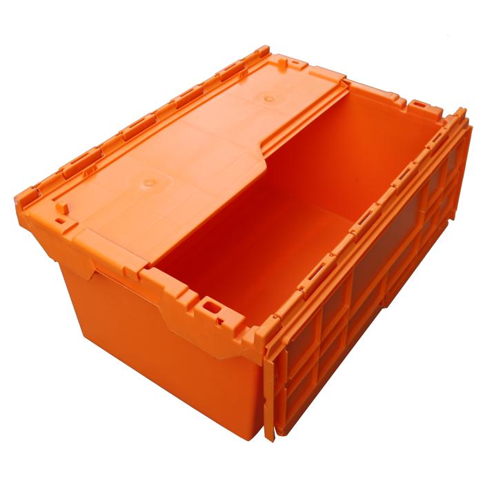 black plastic storage boxes