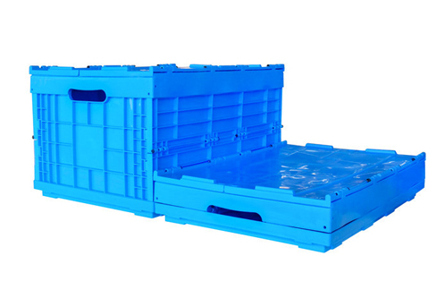 collapsible box with lid