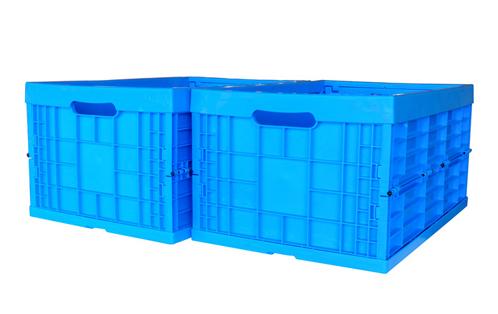 folding plastic pallet container