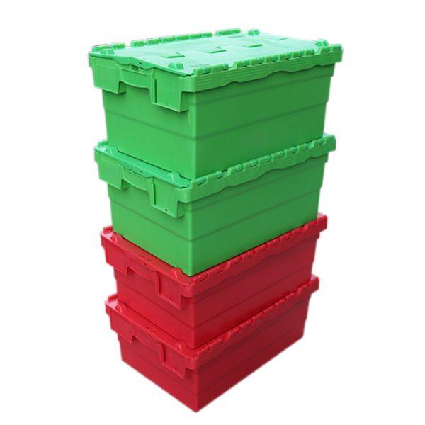 hinged lid plastic crates