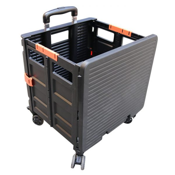 rolling storage crate with handle